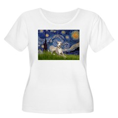 Starry Night & Whippet T-Shirt
