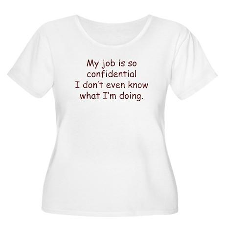 MyJob Women's Plus Size Scoop Neck T-Shirt