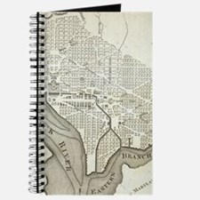 Vintage Map of Washington D.C. (1794) Journal