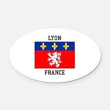 Lyon, France Oval Car Magnet
