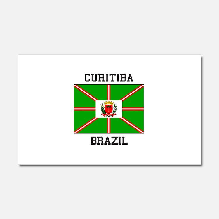 Curitiba Brazil Car Magnet 20 x 12