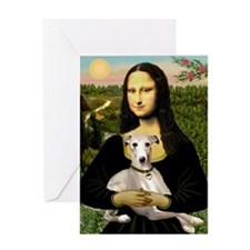 Mona & Whippet Greeting Card