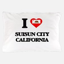 I love Suisun City California Pillow Case