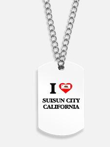 I love Suisun City California Dog Tags