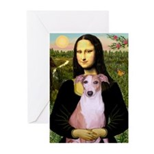 Mona Lisa (new) & Whippet Greeting Cards (Pk of 20