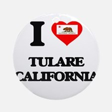 I love Tulare California Ornament (Round)