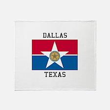 Dallas Texas Throw Blanket