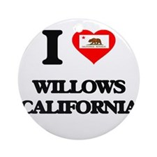 I love Willows California Ornament (Round)