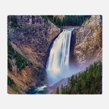 Lower Falls Yellowstone Throw Blanket