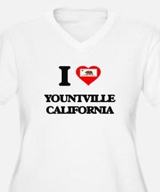 I love Yountville California Plus Size T-Shirt