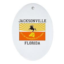 Jacksonville Florida flag Ornament (Oval)