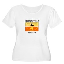 Jacksonville Florida flag Plus Size T-Shirt