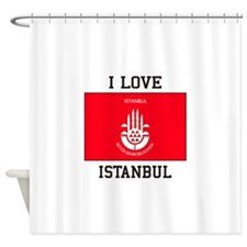 I Love Istanbul Shower Curtain