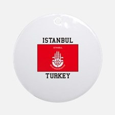 Istanbul Turkey Ornament (Round)