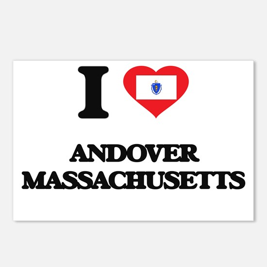 I love Andover Massachuse Postcards (Package of 8)