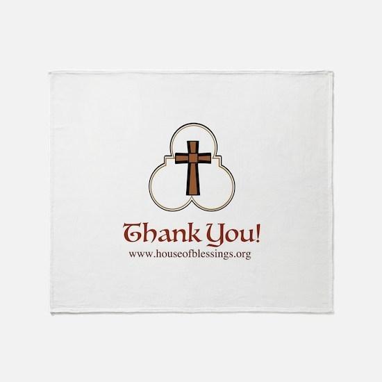HOB Thank you Throw Blanket