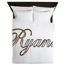 Gold Ryann Queen Duvet