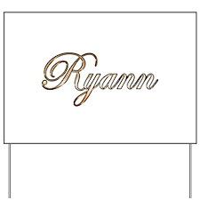 Gold Ryann Yard Sign