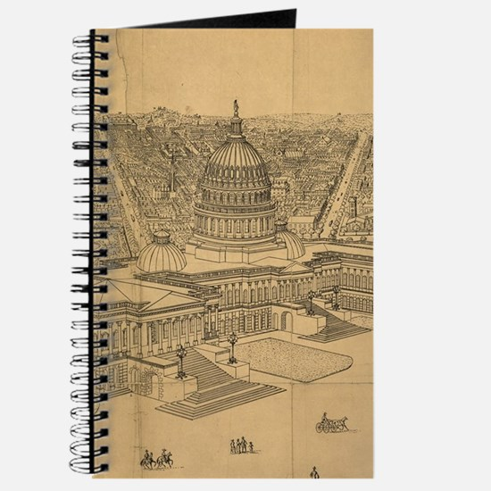 Vintage Pictorial Map of Washington D.C. ( Journal