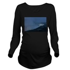 Niagara Falls in Win Long Sleeve Maternity T-Shirt