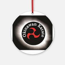 Okinawan Karate Symbol Ornament (Round)