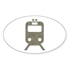 Vintage Subway Oval Decal