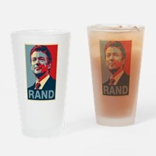 Rand Poster Drinking Glass