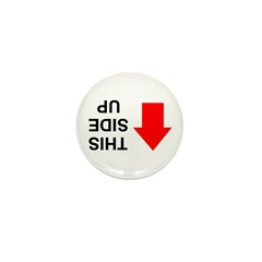 THIS SIDE UP Mini Button (100 pack)