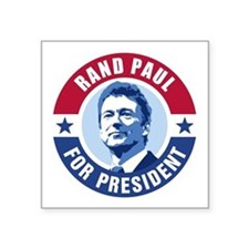 "Rand Paul Retro Square Sticker 3"" x 3"""