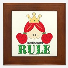 Redheads Rule Redhead Framed Tile