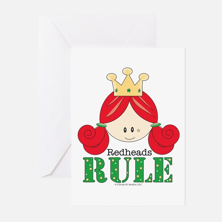 Redheads Rule Redhead Greeting Cards (Pk of 10)