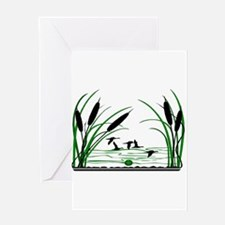 DUCK HUNTERS PARADISE Greeting Cards