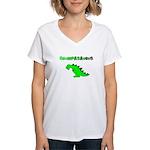 GRUMPASAURUS Women's V-Neck T-Shirt