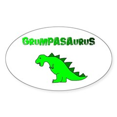 GRUMPASAURUS Oval Sticker