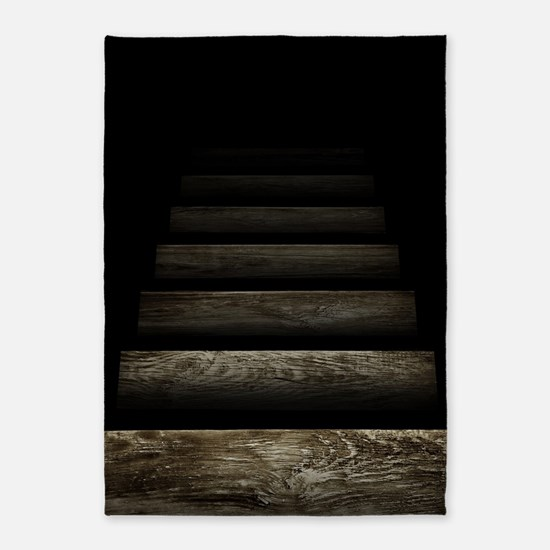 Trapdoor Staircase 5'x7'Area Rug