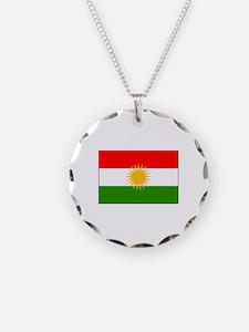 Kurdistan Iraq Flag Necklace