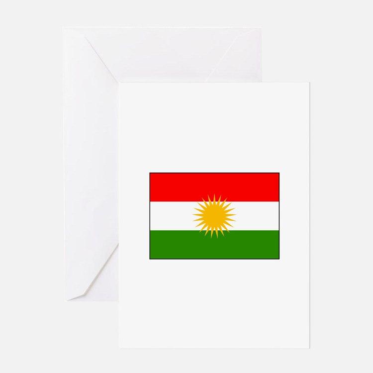 Kurdistan Iraq Flag Greeting Cards