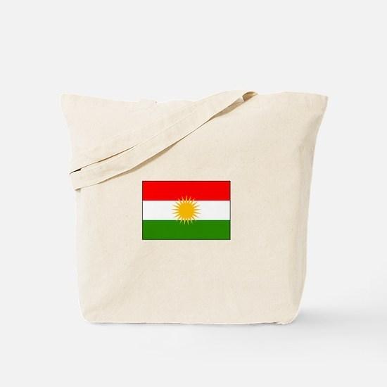 Kurdistan Iraq Flag Tote Bag