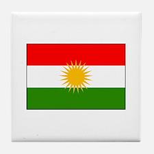 Kurdistan Iraq Flag Tile Coaster