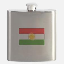 Kurdistan Iraq Flag Flask