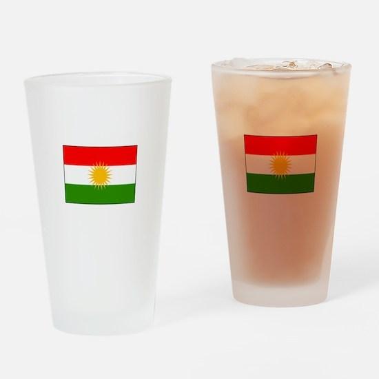 Kurdistan Iraq Flag Drinking Glass