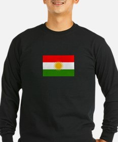 Kurdistan Iraq Flag Long Sleeve T-Shirt