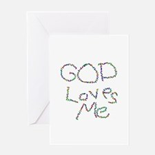 God Loves Me Greeting Card
