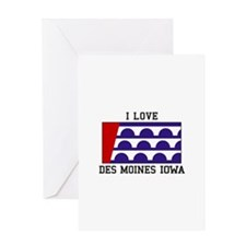 I Love Des Moines Iowa Greeting Cards