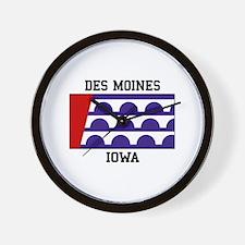 Des Moines Iowa Wall Clock