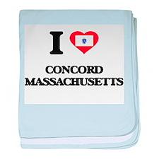 I love Concord Massachusetts baby blanket