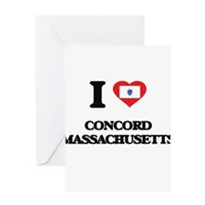 I love Concord Massachusetts Greeting Cards