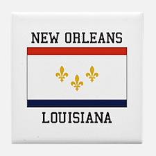 New Orleans Flag Tile Coaster
