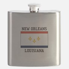 New Orleans Flag Flask