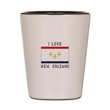 New Orleans Flag Shot Glass